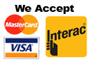 We Accept Visa, MasterCard, Debit